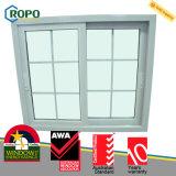 Самое последнее окно UPVC пластичное стеклянное с конструкциями решетки для домов
