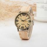 Nuovo regalo di legno superiore dell'orologio della vigilanza del quarzo di modo delle vigilanze del grano per le donne