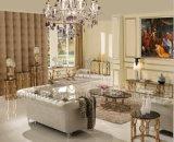 Eettafel van het Glas van het Ontwerp van het gouden Plateren de Vierkante