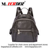 Girls를 위한 M7016 Western Stylish Black Zipper Leather Backpack Purse