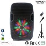 8 pulgadas de rectángulo portable profesional del altavoz con la luz del RGB del programa