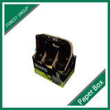 Изготовление коробки вина картона 6 бутылок высокого качества оптовое практически