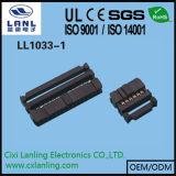 разъем гнезда 2.54mm IDC с кабелем тесемки плоским