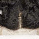 100%年のバージンの毛の中間によって分けられるねじれたカールのレースの閉鎖