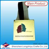 De Medaille van het Metaal van de Sport van het Ontwerp van de Douane van het Lint van de Medaille van de stof