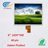 8 visualización de la resolución 1024 (RGB) X768 LCD de la pulgada 40pin