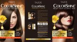 Tintura de cabelo permanente cosmética de Tazol Colorshine (Brown escuro) (50ml+50ml)