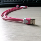 3 en 1 USB Cable de Phone Accessories Data para la PC de Samsung HTC Hua Wei Tablet del iPhone