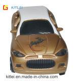 A promoção puxa o mini carro plástico do brinquedo