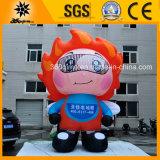 Kundenspezifisches grosses aufblasbares Feuer-Maskottchen (BMCD50)