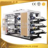 4/6 de máquina de impressão Flexographic de alta velocidade da película plástica da cor