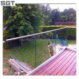 12mm gâché/verre trempé avec le bord Polished pour la clôture de syndicat de prix ferme