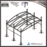 Алюминиевой ферменная конструкция крыши крыши полуокружности сдобренная ферменной конструкцией для выставки