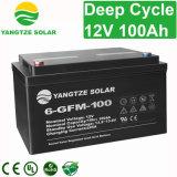 Свободно цена батареи цикла перевозкы груза 12V загерметизированное 100ah свинцовокислотное глубокое