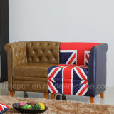 Insieme speciale del sofà della doppia sede di disegno con differente stampato (SP-KS344)