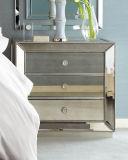 Mobilia domestica di legno dello specchio antico dei tre cassetti