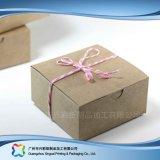 Contenitore di regalo impaccante sveglio dei monili della carta kraft Con gli accessori (xc-pbn-025c)