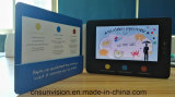 """Document van Kraftpapier van het Leer van Pu 7 """" LCD de VideoBrochure van de Kaart van de Muziek"""