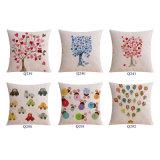 El lino del algodón imprimió las almohadillas de tiro decorativas de 18 pulgadas para el sofá