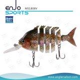 釣り人の選り抜きマルチ接合された採取のリアルな魅惑の低音の餌のSwimbaitの浅く堅い魅惑の釣餌(MS1808V)