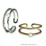 Кольцо ювелирных изделий стерлингового серебра 925 с перлой раковины для женщин звенит (R10700)