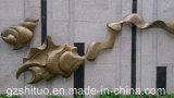 壁の抽象的な金属の彫刻の景色の装飾、屋外の庭の景色の壁の装飾、内壁の装飾