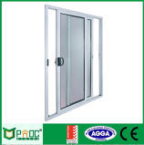 Superficie Finiluminium doble acristalamiento puerta corredera hecha en China (PNOC225SLD)