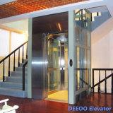 실내 싼 작은 소형 집 별장 유리제 가정 상승 엘리베이터