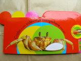 Impresión a todo color del libro de la tarjeta de tarjeta de libro de la tarjeta del bebé de la impresión de la cartulina de los niños