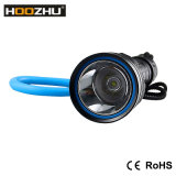 O diodo emissor de luz do CREE da tocha do mergulho de Hoozhu D12 Waterproof 120m