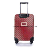 Мешок чемодана вагонетки конструкции детенышей PU портативных повелительниц кожаный, случай багажа перемещения изготовленный на заказ печатание Nylon с колесами