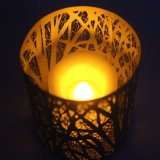 Mini taille Electrosilvering Craft Nice Christmas LED Lantern pour Tealight