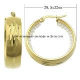 Oro Earring&#160 del laminado del acero inoxidable del precio de la alta calidad de la joyería de Shineme el mejor; Ers6935