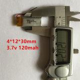 Batería 3.7V - Batería 041230 120mAh del polímero