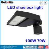 금 공급자 공장 가격 120lm/W Meanwell 운전사 LED 100개 와트 Shoebox 가벼운 100W