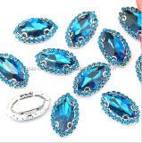2017 naait de Recentste Diamant Ab van Rijn op de Kettingen van Bergkristallen Flatback met Kristal (sW-Boot 9*18mm)