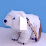 Jouet animal blanc de peluche d'ours blanc de beau jouet