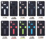 Tampa Shockproof do silicone do PC TPU do exemplo do defensor para o iPhone 7 7plus