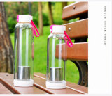 Bottiglia bevente di vetro, bottiglia della bevanda, bottiglia della spremuta, bottiglia di vetro