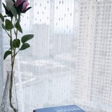 Klassischer Leinenjacquardwebstuhl-Voile-blosses Vorhang-Gewebe