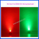 LEIDENE Disco Lichte 7PCS*12W die RGBW HoofdLicht bewegen