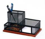 Accesorios de escritorio de madera de oficina del organizador del papel del acoplamiento del metal de los accesorios y de los organizadores de escritorio