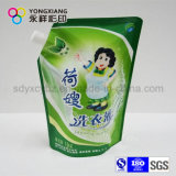 La talla modificada para requisitos particulares se levanta el bolso líquido del canalón para el detergente de lavadero