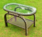 Im Freien hochwertige Freizeit PET Rattan-Garten-Tische und Stühle