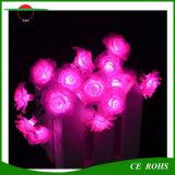 Solar Holiday Light Rose Flower Lumière de cordes solaires 7m 50LEDs Arbres Lumières décoratives Jardin de roses imperméable à l'eau en plein air Lumière de fête LED solaire LED