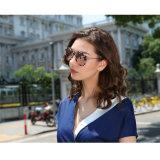 Lunettes de soleil de femmes du plastique Tr90 élégant de mode neuve et de l'acier inoxydable avec la lentille polarisée