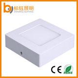 Montaje interior cuadrado ultra delgado de la superficie de la luz de techo de las lámparas del panel 6W LED