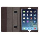 Caso portable del iPad del diseño del cuero genuino del 100% para el aire del iPad