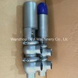Válvulas sanitárias de aço da reversão de Stainess com cabeça de controle