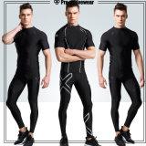 Pantalones corrientes de los hombres de la gimnasia de los deportes de las medias de la compresión que activan